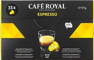 Café Royal Espresso 33 Capsules Compatibles avec le Système Nespresso*,  Intensité 5/10
