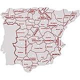 Faibo - Bolsa con 3 Plantillas, mapas España 15 x 12 cm (250)