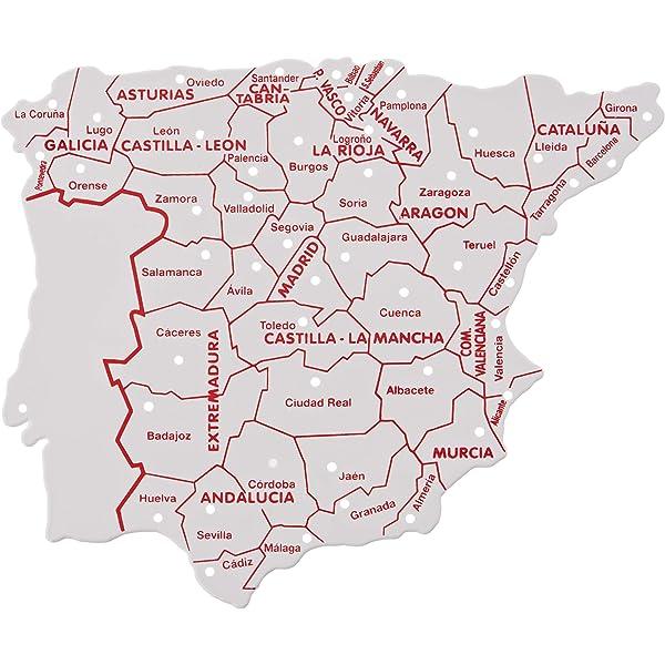Faibo - Bolsa con 3 Plantillas, mapas España 15 x 12 cm (250 ...