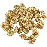 VORCOOL 50 stuks kunstbloemen rozenkoppen stoffen rozen decoratieve bloemen (goud)