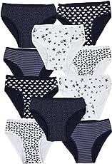 TupTam Mädchen Slips Unterhose mit Aufdruck 10er Pack