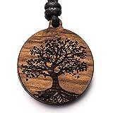 treeforce Collana con ciondolo a forma di albero della vita, portachiavi o auto 3 in 1, gioielli fai da te in rovere di rame