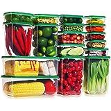 Ensemble de boîtes de Rangement Alimentaires avec couvercle, Lockcoo 17 pièce récipients Alimentaires en Plastique sans BPA p