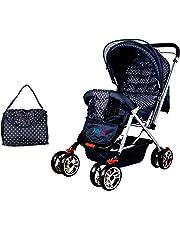 Babygo Delight Reversible Baby Stroller and Pram (Navy Blue)