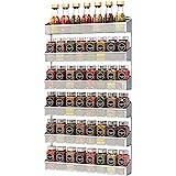 à épices de 3 étages Murale, range épices en métal, Étagère à épices à fixation murale à empilables, pour cuisine, placard, s