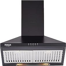 Inalsa 60cm 950 m3/hr Chimney (Brio 60BKBF, 2 Baffle Filters, Black)
