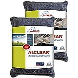 ALCLEAR 950014 Ultra mikrofiber bilsvamp, mot dimade skivor, antracit/blå, antal 2