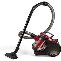 LIVOO DOH105R Aspirateur Multi-Cyclonique sans Sac Rouge et Noir 2 Litres
