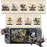 9 PCS Monster Hunter Rise NFC Amiibo Mini Cards, Palamute, Palico, Magnamalo. Compatible Switch/Switch Lite/New 3DS