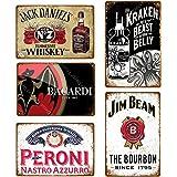 5 stks Vintage Bier Whiskey Plaque Retro Metalen Bord Emaille Bord mannen Cave Bar Pub Reclame Wanddecoratie 20x30 cm YD4272J