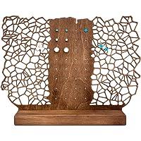 Porta orecchini e borchie in legno - Organizzatore di gioielli