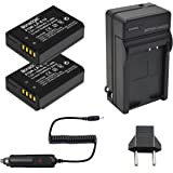 Bonadget 2 Pack Battery and Charger for Canon LP-E10 EOS Rebel T3 T5 T6, Kiss X50 X70, EOS 1100D, EOS 1200D, EOS 1300D Digital Camera