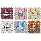 Prices Lot de 150 bougies chauffe-plat parfumées - 25 x 6 parfums - Fleurs de coton, baies mixtes, agrumes, rose, lavande et
