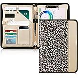 Toplive - Funda portafolios con cremallera, organizador de documentos para empresas con portapapeles tamaño carta/A4, soporte