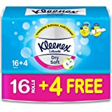 Kleenex Toilet Paper Dry Soft - Pack of 20 Bath Tissues Rolls, 200 Tissues x 2 Ply
