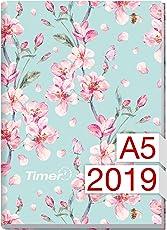 Chäff-Timer Classic A5 Kalender 2019 [Floral] 12 Monate Jan-Dez 2019 - Terminkalender mit Wochenplaner - Organizer - Wochenkalender