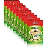 Melitta Natura 102/80 Lot de 9 packs de 80 sacs filtrants Marron naturel