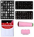 Royalkart D.I.Y. Nail Art Combo Kit With 2pcs Small Stamping Image Plate & 1pc Large Stamping Image Plates & French...
