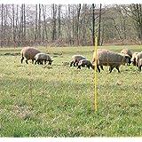 Kerbl 27262 Schafzaun 90cm Classic 50m | Schafnetz Ziegenzaun Elektronetz | 14 Pfähle 2 Spitzen | Orange