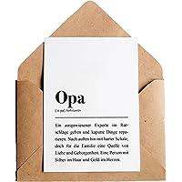 Opa: Karte mit Umschlag – Opa Definition