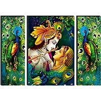 SAF Set of 3 Radha Krishna 6MM MDF self addeshive UV Coated Home Decorative Religious Gift Item 24 inch x 18 inch…