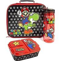 Super Mario Lunch Box Set Enfants (sac nourriture, bouteille d'eau, récipient) taille unique