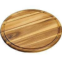 Kesper 20444   Tagliere rotondo in legno di acacia  Diametro 30 cm  Spessore 1 5 cm