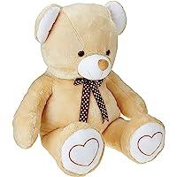 Amazon Brand - Jam & Honey Beige Teddy 3.5 Feet Standing