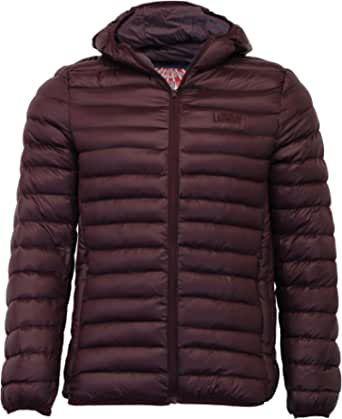 Mens Jacket Tokyo Laundry Coat Padded Wadded Quilted Hoodie Bubble Zip Winter