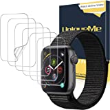 UniqueMe [6 Pack] Protector de Pantalla para Apple Watch 38mm Series 1/2/3, [Caso amistoso] [Película Flexible] Soft HD Clear