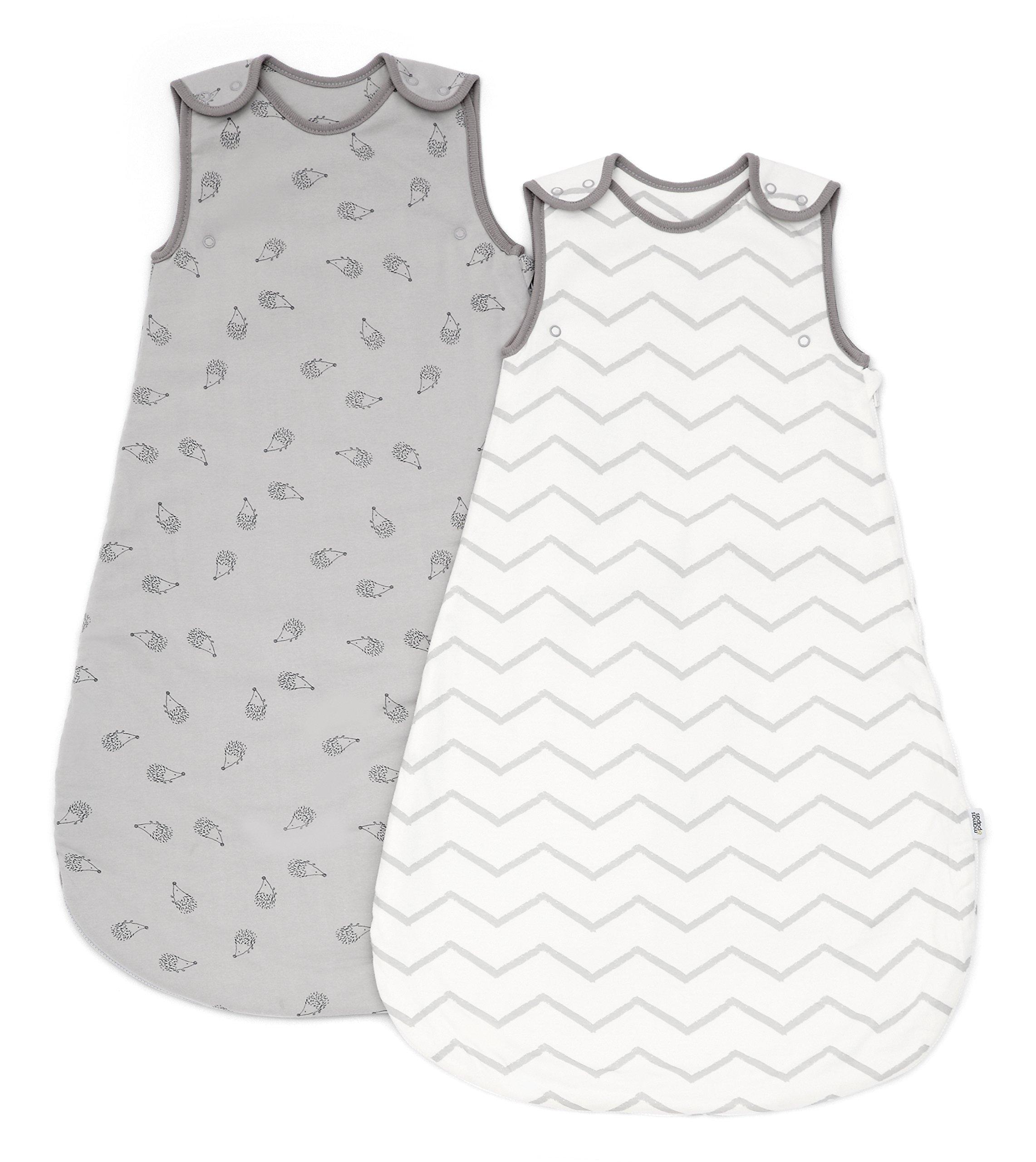 81rbJGM9gxL - Saquito de dormir para bebé de Mamas & Papas (de 0a 6meses, 2,5tog, color gris, lote de 2)