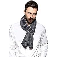 SEW ELEGANT NUOVA Sciarpa invernale a righe a maglia morbida calda per uomo
