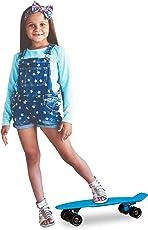 Relaxdays Skateboard Kinder 22 Zoll, Komplettboard ABEC 7, Mini Cruiser m. Alu Achsen u. Kunststoff Deck, versch. Farben