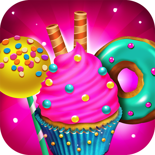 Candy Dessert Bakery Shop - Make, Bake & Cook Donuts, Cake Pops, Cupcakes, Cookies, Popsicles, Ice Cream, Cakes! Kids Candy Kitchen Cooking Food Maker Restaurant Game Candy Kitchen
