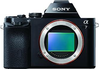 Sony Alpha 7 E-Mount Vollformat Digitalkamera ILCE-7 (24,3 Megapixel, 7,6cm (3 Zoll) LCD Display, BIONZ X, 2,3 Megapixel OLED Sucher, NFC, nur Gehäuse) schwarz