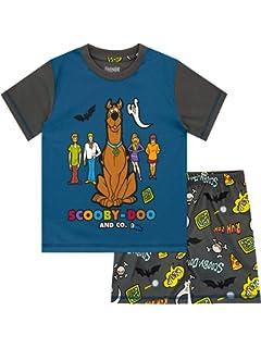 DSL Pigiami per Ragazzi Scooby Pigiami Abbigliamento Casual Manica Corta Pjs Imposta Indumenti da Notte Estivi per 3-8 Anni