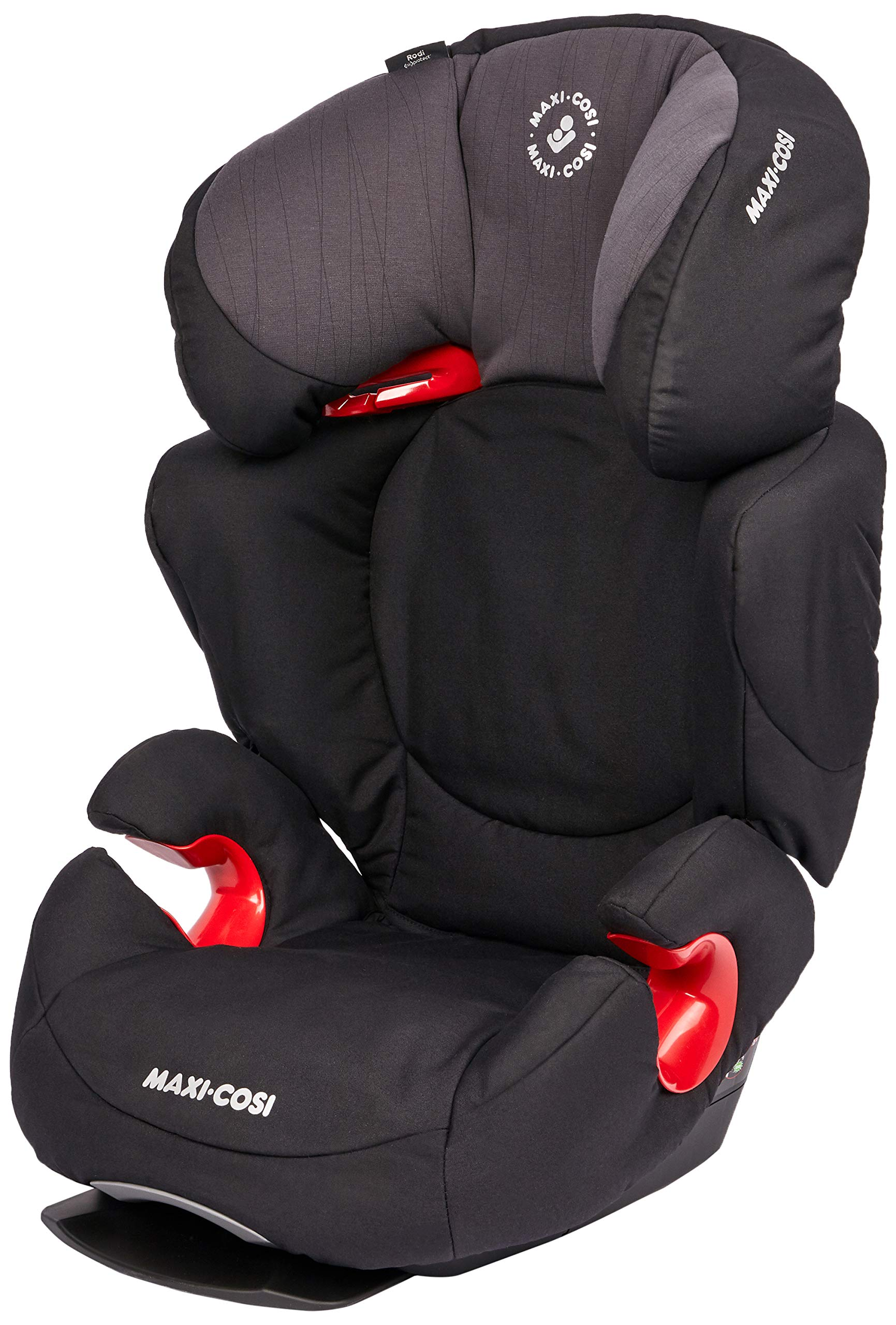Maxi-Cosi Rodi AirProtect Child Car Seat, Lightweight Highback Booster, 3.5-12 Years, 15-36 kg, Frequency Black Maxi-Cosi Child car seat, suitable from 3.5 to 12 years (15 - 36kg) Easily install this safe car seat with a 3-point seat belt and attach the anchorage point in the head rest through your cars head rest Patented air protect technology in headrest reduces the risk of head and neck injuries up to 20 percent 1