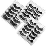 Pestañas Postizas de Pelo Artificial 3D Mixtas 15 Pares Multipack, Tiras Completas, Natural Pestañas Falsa Largas Gruesas Maq