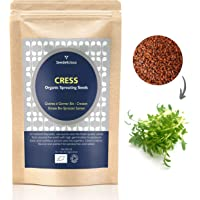 ORGANIC CRESS SEEDS for Sprouting Common/ Curled 250g by Verdant Republic | Non GMO Healthy Superfood | Easy to Sprout | High Germination to Microgreens