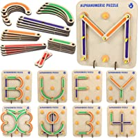 ButterflyEduFields Wooden Alphabets Construction Toys for Kids 3 4 5 Years | 28 Piece Wooden Puzzles Learning…