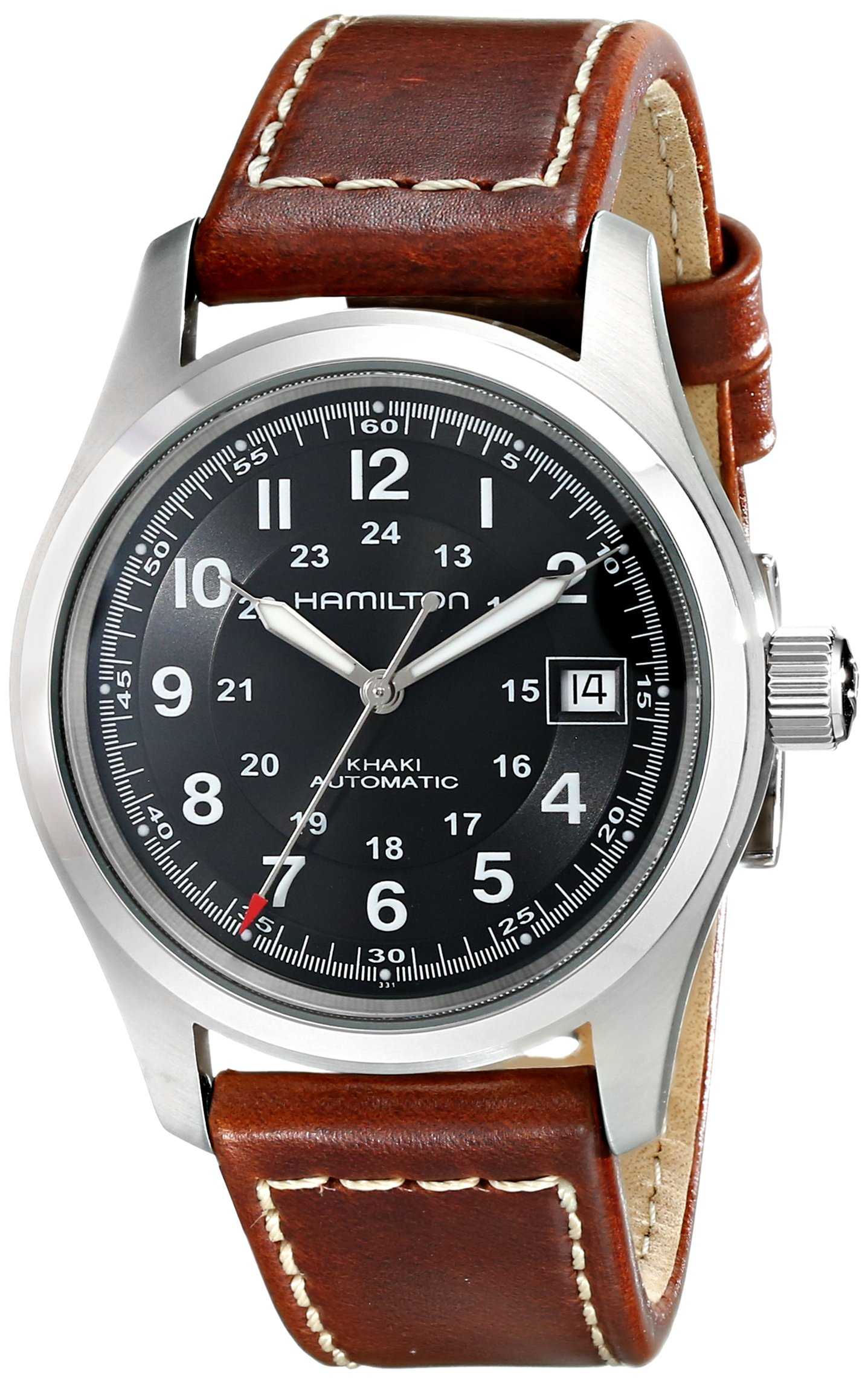 Hamilton Men's Analogue Automatic Watch with Leather Strap H70455533