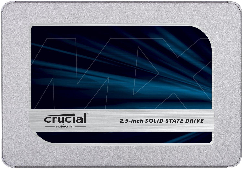 Crucial MX500 2TB CT2000MX500SSD1 fino a 560 MB/s, SSD Interno, 3D NAND, SATA, 2.5 Pollici, Metallico