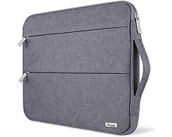 Voova Funda para portátiles 13-13.3 Pulgadas con Asa, Impermeable Maletín Ordenador Compatible con MacBook Air 2018-2020 M1,