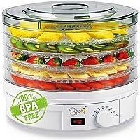 Spice Teseko Déshydrateur pour aliments, comprend 5 compartiments ajustables et un bouton pour régler la température (de…