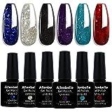 Allenbelle Smalto Semipermante Per Unghie Kit In Gel Uv Led Smalti Semipermanenti Per Unghie Nail Polish UV LED Gel Unghie(Ki