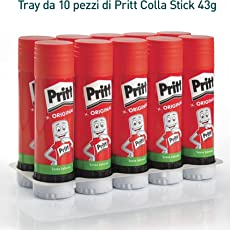 Pritt, 199990, Colla Stick, 43g, 10 pezzi