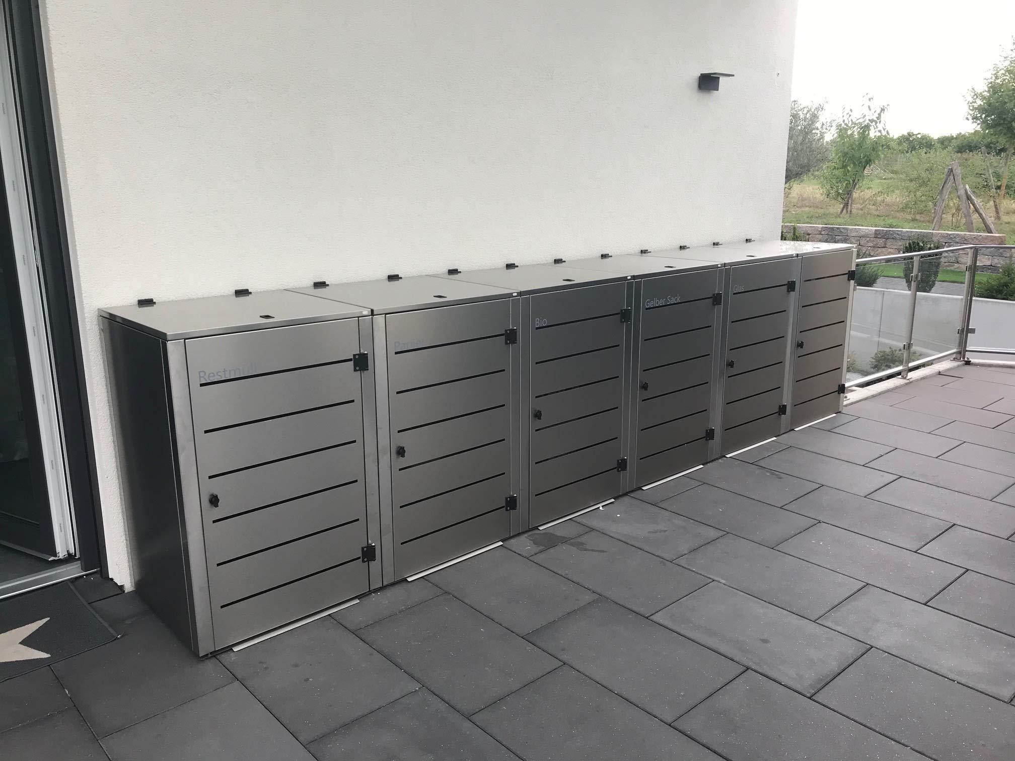 Gero metall Mülltonnenbox für eine 240 Liter Mülltonnen