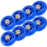 TOBWOLF 70mm/ 76mm 82A/84A inline skaatwielen, 8 Pack vervanging rolschaatsen wielen voor meisjes en jongens wielen met lager