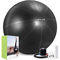 TOPLUS Exercise Ball, Gym Ball Supports 2200lbs Yoga Ball Anti-Burst & Extra Thick, Swiss Ball with Quick Pump Birthing…
