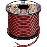 22awg 0.3mm² siliconen elektrische draad 2 core kabel 200ft [zwart 100ft rood 100ft] zuurstofvrij gestrande vertinde koperdra
